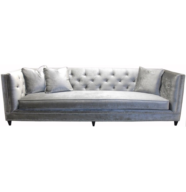 Tufted Back Bench Seat Tuxedo Sofa