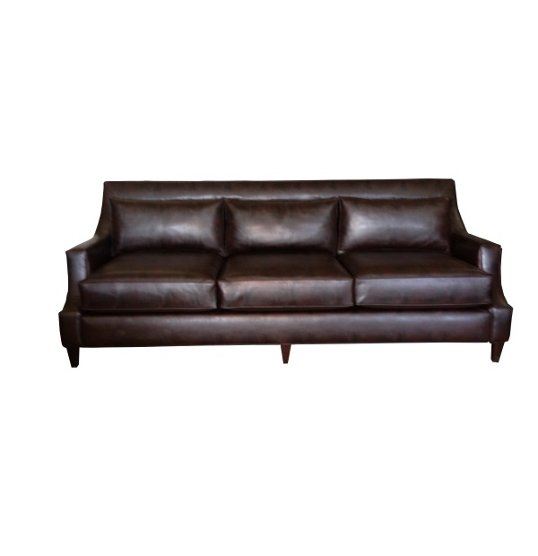 Cutaway arm panel sofa with low back cushionstest for One armed couch name