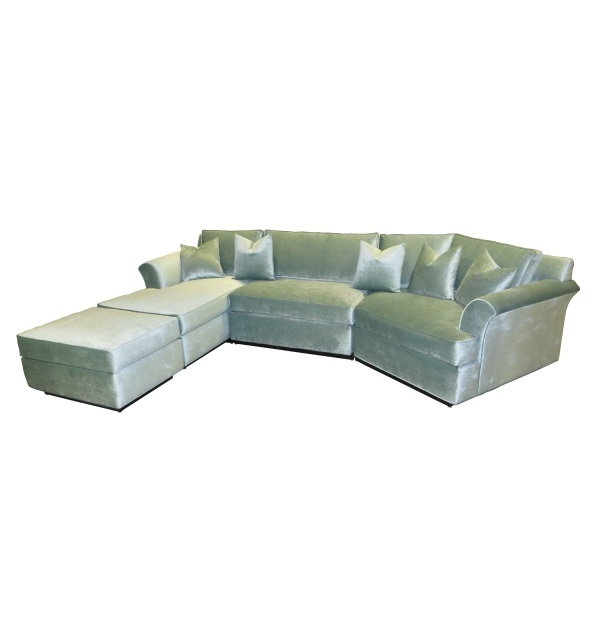 Angled velvet sectional with chaisetest for Angled chaise sofa