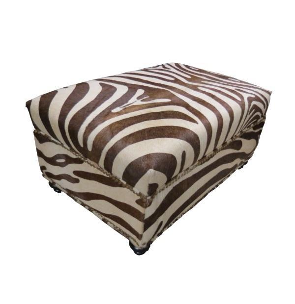 Hair On Hide Zebra Print Ottomantest