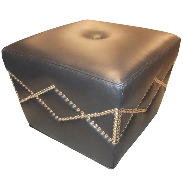Square Tapered Ottoman With Nailheadstest