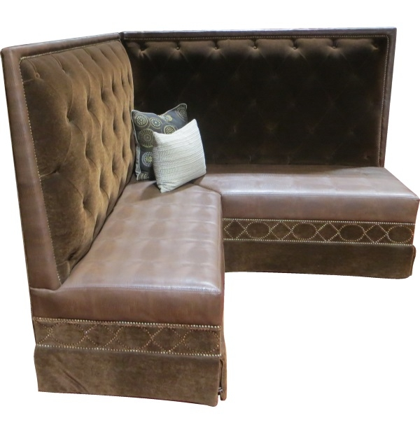 Luxury Tufted Velvet Corner Banquette With Nailheadstest