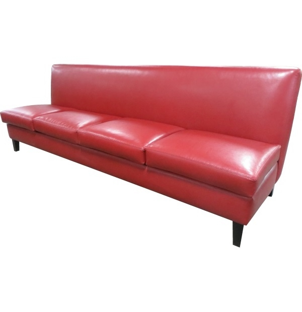 Red Leather Dining Bench Benches