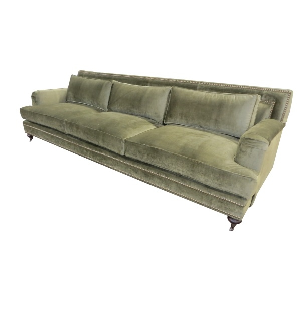 Classic Sofa With Casters On Turned Legs