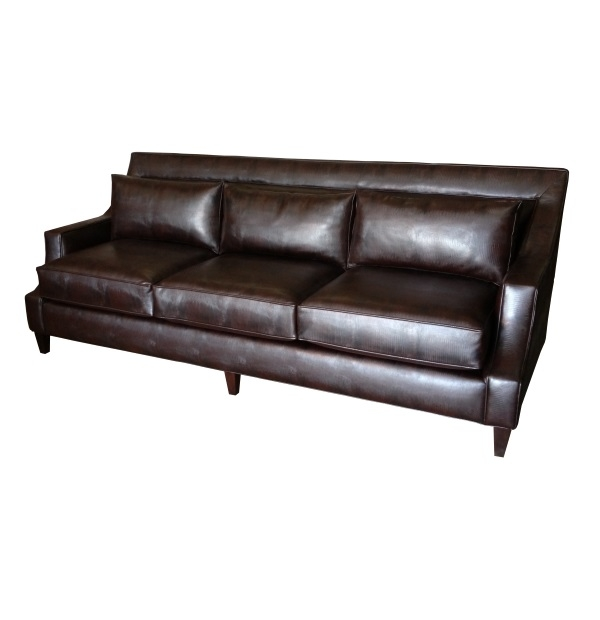 Cutaway Arm Panel Sofa With Low Back Cushionstest