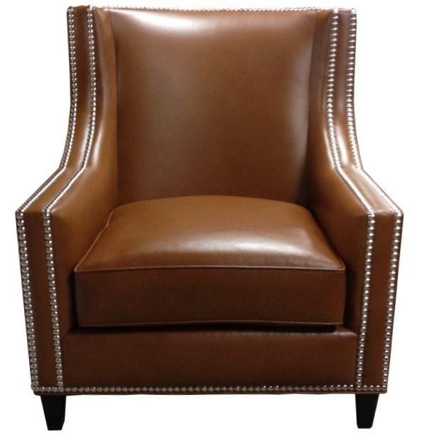 Slope Shaped Arm Lounge Chair With Nailheadstest