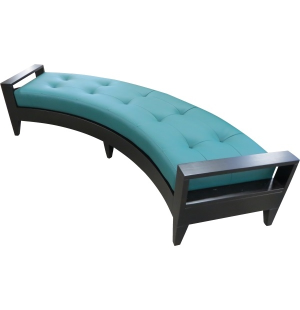Curved Wood Frame Upholstered Bench With Tuftingtest