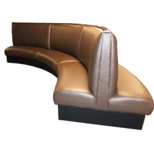 Superbe Two Sided Curved Banquette ...