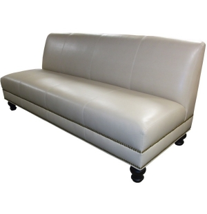 leather armless sofa – Home and Textiles